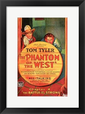 Framed Phantom of the West The Battle of the Strong Print