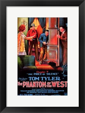 Framed Phantom of the West The Price of Silence Print
