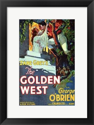 Framed Golden West Print