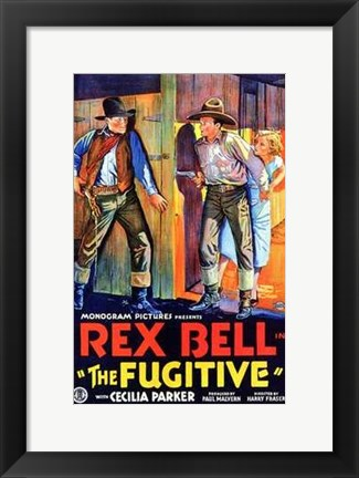 Framed Fugitive Rex Bell Original Print