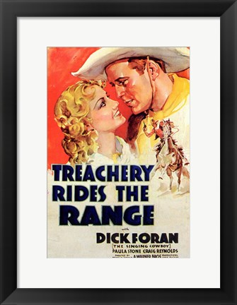 Framed Treachery Rides the Range Print