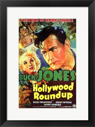 Framed Hollywood Roundup Print
