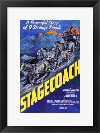 Framed Stagecoach A Powerful Story of 9 Strange People Print