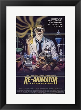 Framed Re-Animator HP Lovecraft Print