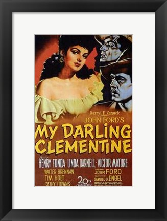 Framed My Darling Clementine Print