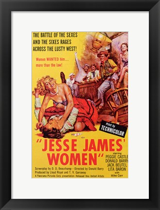 Framed Jesse James' Women Print