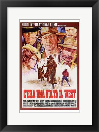 Framed Once Upon a Time in the West Spanish Print