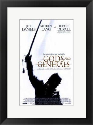 Framed Gods and Generals Print