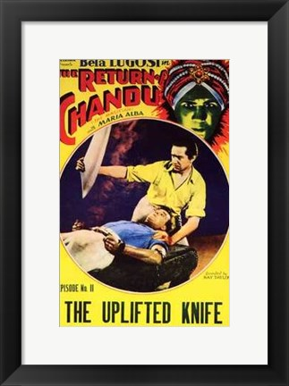 Framed Return of Chandu - The Uplifted Knife Print
