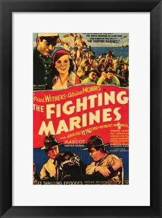 Framed Fighting Marines Print