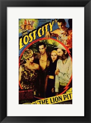 Framed Lost City The Lion Pit Print
