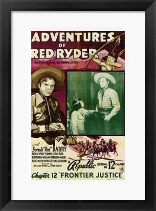 Framed Adventures of Red Ryder movie poster Print
