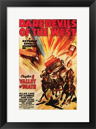 Framed Daredevils of the West Chapter 1 Print