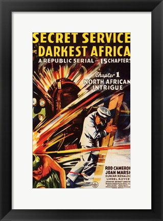 Framed Secret Service in Darkest Africa Print