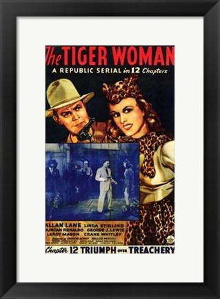 Framed Tiger Woman (movie poster) Print