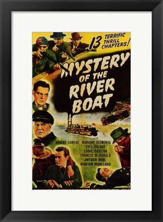 Framed Mystery of the River Boat Print