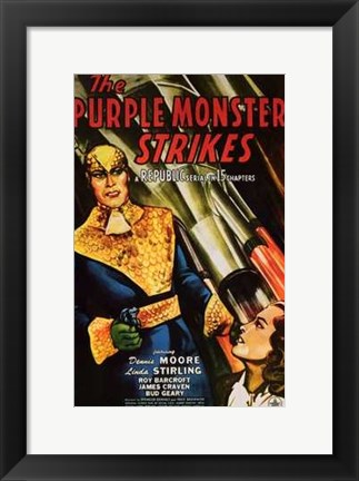 Framed Purple Monster Strikes Print