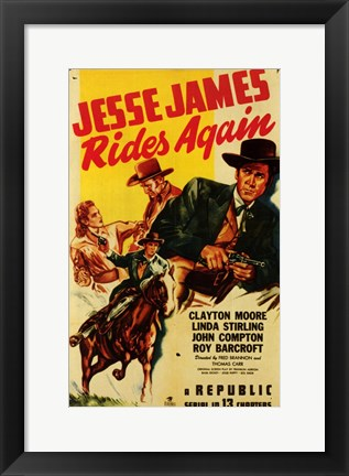 Framed Jesse James Rides Again Print