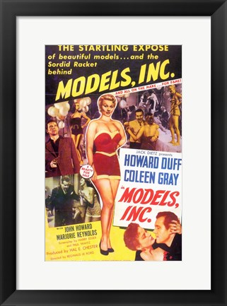 Framed Models  Inc Print