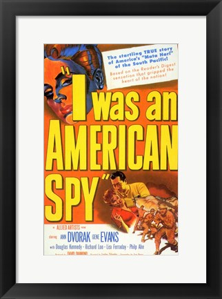 Framed I Was an American Spy Print