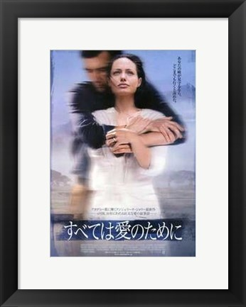 Framed Beyond Borders Angelina Jolie Non-English Print