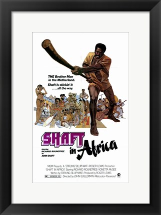 Framed Shaft in Africa Motherland Print