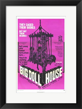 Framed Big Dollhouse Print