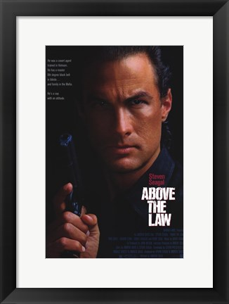 Framed Above the Law Movie Poster Print