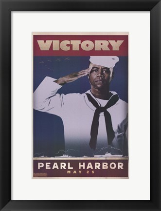 Framed Pearl Harbor Art Deco Victory Print