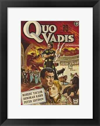 Framed Quo Vadis - couple huging Print