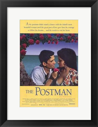 Framed Postman - couple facing eachother Print