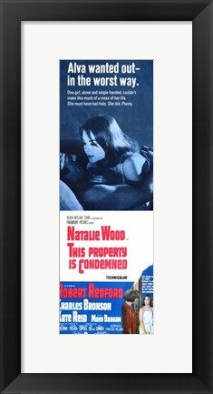 Framed This Property is Condemned Movie Print