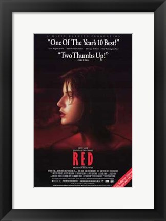 Framed Trois Couleurs: Rouge Movie Print