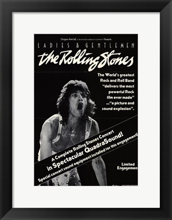 Framed Ladies and Gentlemen the Rolling Stones Print