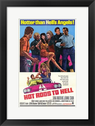 Framed Hot Rods to Hell Print