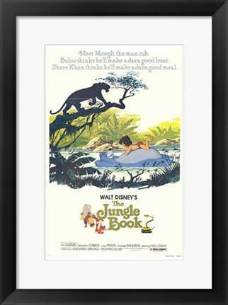 Framed Jungle Book Disney Print
