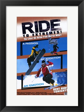 Framed Warren Miller's Ride Print