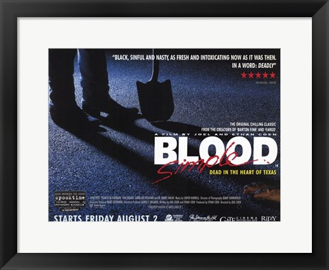 Framed Blood Simple Dead in the Heart of Texas Print