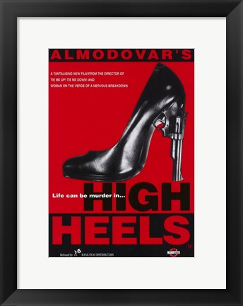 Framed High Heels Print