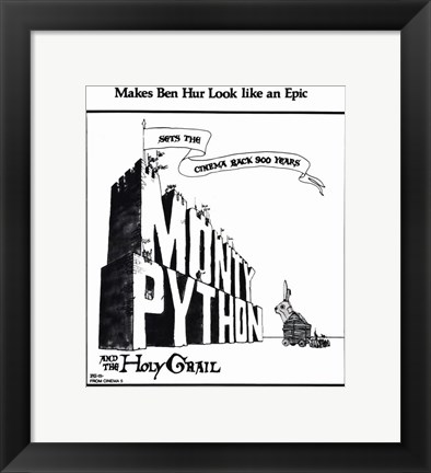 Framed Monty Python and the Holy Grail - Black and White Print