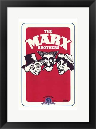 Framed Marx Brothers Print