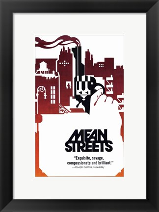 Framed Mean Streets Silhouette Print