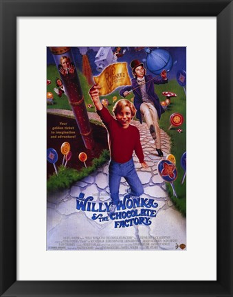 Framed Willy Wonka and the Chocolate Factory Print