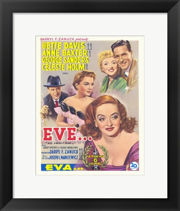 Framed All About Eve Print