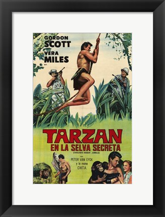 Framed Tarzan's Hidden Jungle, c.1955 (Spanish) - style A Print