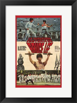 Framed Bruce Lee: the Man  the Myth Print