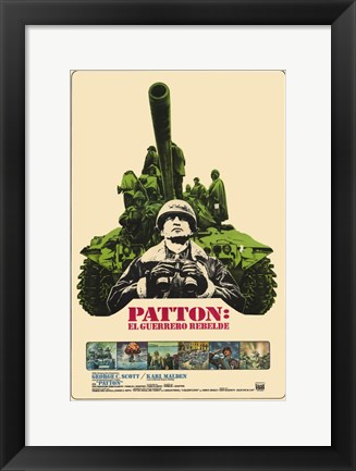 Framed Patton Print