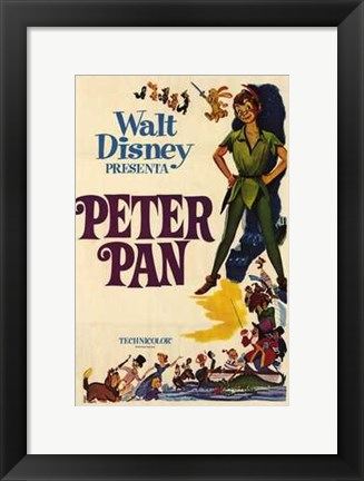 Framed Peter Pan by Disney Print