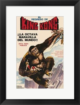 Framed King Kong Escapes Print
