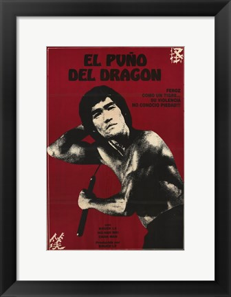 Framed Re-Enter the Dragon Print